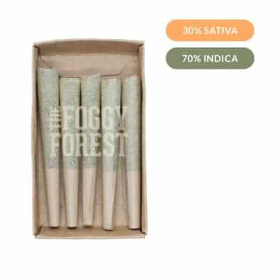 Gas Mask AAA+ | Fog Cones Preroll 5 pack x 0.6g