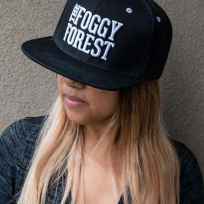 Buy Black Flat Brim Snapback Hat in Canada - The Foggy Forest